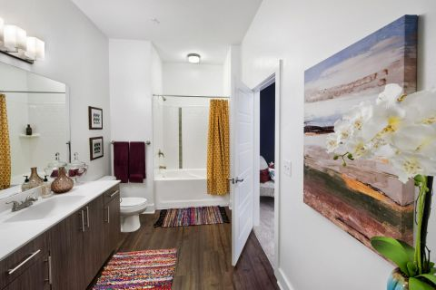 Bathroom at Camden Fourth Ward Apartments in Atlanta, GA