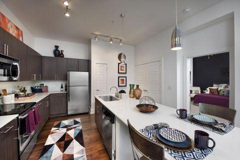 Kitchen at Camden Fourth Ward Apartments in Atlanta, GA