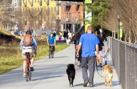 Walk and Bike Paths at Camden Fourth Ward Apartments in Atlanta, GA