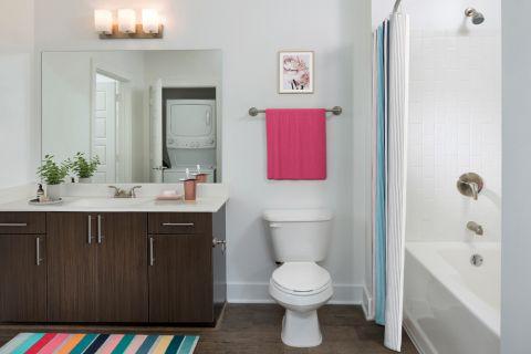 Bathroom at Camden Fourth Ward Apartments in Atlanta, GA