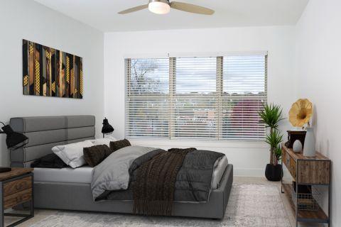 Bedroom at Camden Fourth Ward Apartments in Atlanta, GA