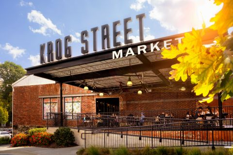 Nearby Krog Street Market at Camden Fourth Ward Apartments in Atlanta, GA