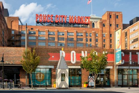 Shopping at Ponce City Market near Camden Fourth Ward Apartments in Atlanta, GA