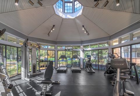 Fitness Center at Camden Foxcroft in Charlotte, North Carolina