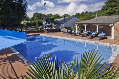 Pool with sundeck at Camden Foxcroft in Charlotte, North Carolina