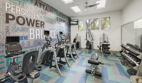 Fitness Center at Camden Gaines Ranch Apartments in Austin, TX