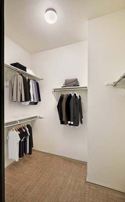 Walk-In Closet at Camden Gaines Ranch Apartments in Austin, TX