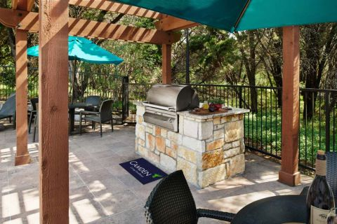 Pool Grill at Camden Gaines Ranch Apartments in Austin, TX
