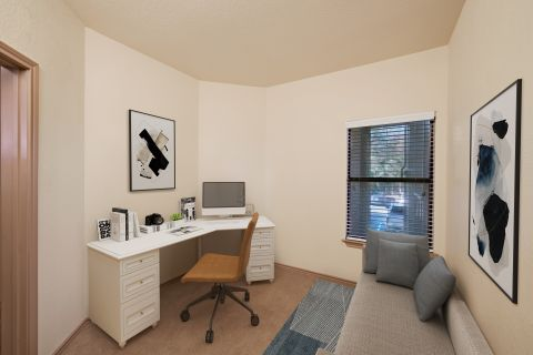 Home Office Space at Camden Gaines Ranch Apartments in Austin, TX