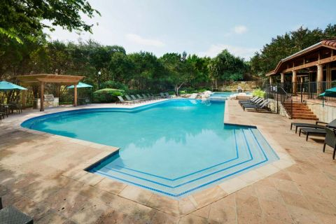 Pool at Camden Gaines Ranch Apartments in Austin, TX