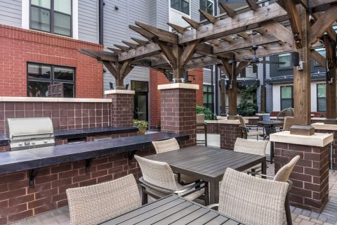 Grill area at Camden Gallery Apartments in Charlotte, NC