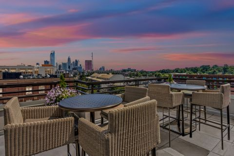Rooftop Deck at Camden Gallery Apartments in Charlotte, NC