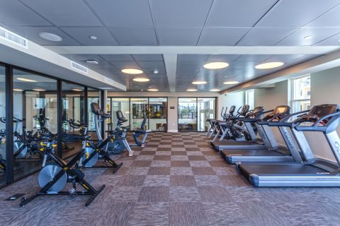 24-Hour Fitness Center with Cardio Equipment at Camden Glendale Apartments in Glendale, CA