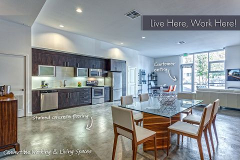Live Work Apartment with Separate Customer Entry at Camden Glendale Apartments in Glendale, CA