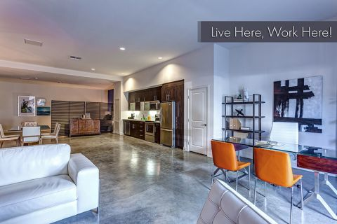 Live Work Apartment with Open-Concept Living and Working Space at Camden Glendale Apartments in Glendale, CA