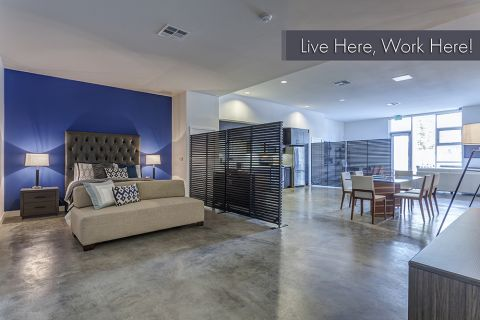 Live Work Apartment with Customizable Privacy Options at Camden Glendale Apartments in Glendale, CA