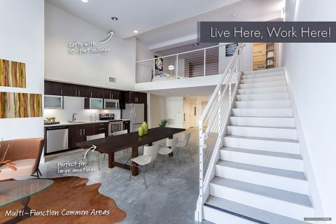 Live Work Apartment with Loft Bedroom at Camden Glendale Apartments in Glendale, CA
