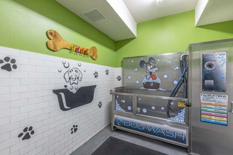 Interior Dog Wash at Camden Glendale Apartments in Glendale, CA