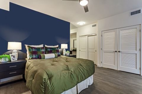 Bedroom in Studio Floor Plan at Camden Glendale Apartments in Glendale, CA