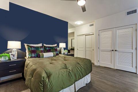 Bedroom in Studio Floor Plan at Camden Glendale Apartments in Glendale, CA