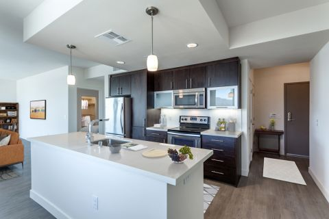 2 Bedroom Penthouse Apartment Kitchen at Camden Glendale Apartments in Glendale, CA