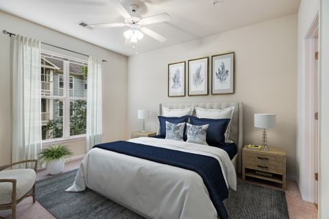 Traditional Style Bedroom at Camden Governors Village Apartments in Chapel Hill, NC
