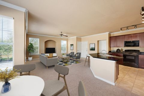 Living Space at Camden Grand Harbor Apartments in Katy, TX