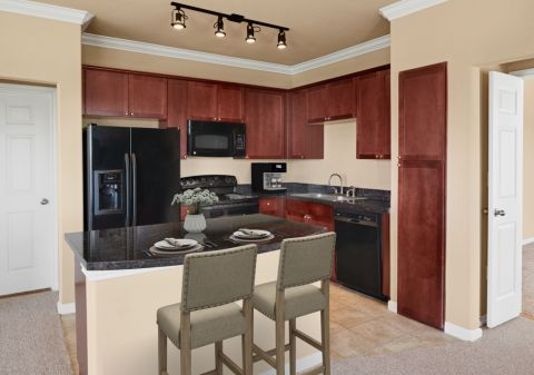 Kitchen at Camden Grand Harbor Apartments in Katy, TX