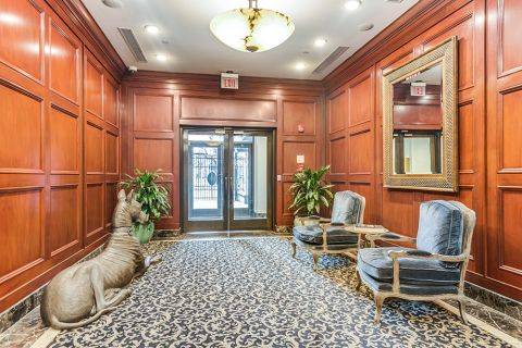 Entrance and Lobby with Comfortable Seating at Camden Grand Parc Apartments in Washington, DC