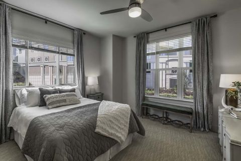 Bedroom at Camden Grandview Townhomes in Charlotte, NC