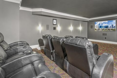 Media Room at Camden Grandview Apartments and Townhomes in Charlotte, NC
