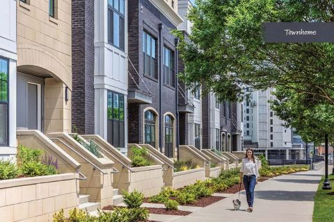 Exteriors at Camden Grandview Townhomes in Charlotte, NC