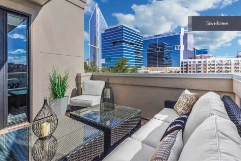Rooftop Balcony at Camden Grandview Townhomes in Charlotte, NC