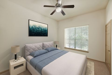 Bedroom at Camden Greenway Apartments in Houston, TX