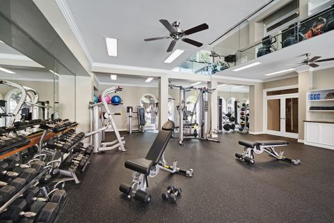 Fitness Center at Camden Greenway Apartments in Houston, TX
