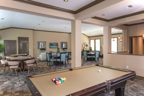 Game Lounge at Camden Greenway Apartments in Houston, TX