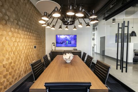 The Hub Conference Room at Camden Harbor View Apartments in Long Beach, CA