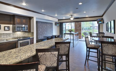 Resident Lounge with Kitchen, WiFi, Seating and Multi-functional Printer at Camden Heights