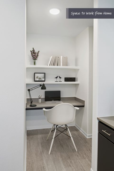 Space to work from home at Camden Heights Apartments in Houston, TX
