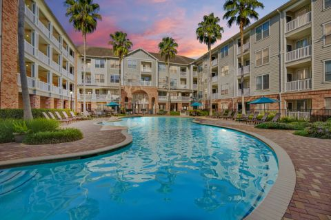 Resort-Style Swimming Pool at Camden Heights Apartments in Houston, TX