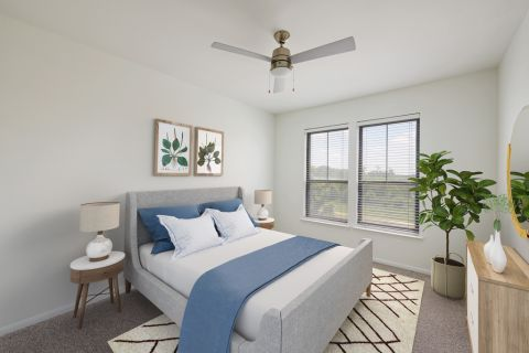 Bedroom at Camden Heights Apartments in Houston, TX