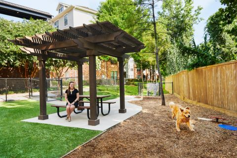 Dog Park at Camden Heights Apartments in Houston, TX