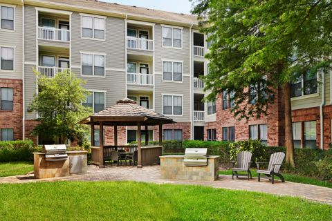 Courtyard Grills at Camden Heights Apartments in Houston, TX