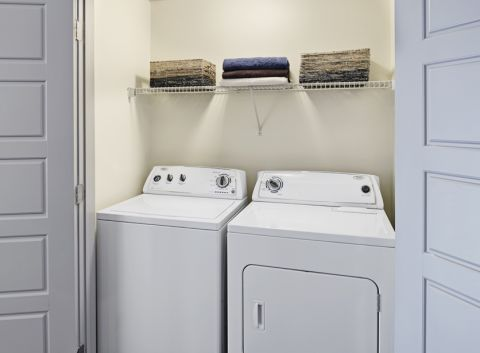 Full-Size Washer and Dryer at Camden Henderson Apartments in Dallas, TX