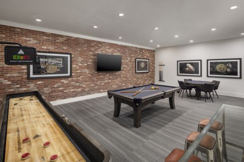 Game Lounge at Camden Henderson Apartments in Dallas, TX