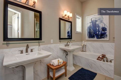 Main Bathroom at The Townhomes at Camden Highland Village in Houston, TX