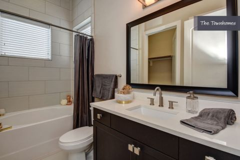 First Floor Bathroom at The Townhomes at Camden Highland Village in Houston, TX
