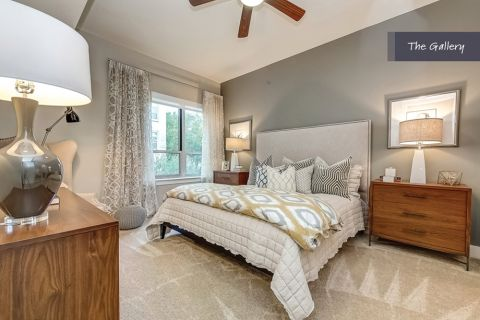 Bedroom at The Gallery at Camden Highland Village in Houston, TX