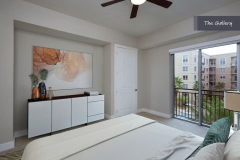 Spacious Bedroom at The Gallery at Camden Highland Village in Houston, TX