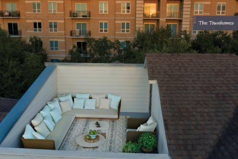 Rooftop Deck at The Townhomes at Camden Highland Village in Houston, TX
